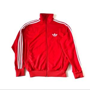 Adidas Red 3 Stripes Sleeve Track Suit Jacket L